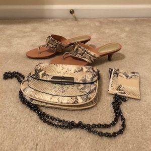 Coach kitten heels, purse, change purse - Cute!